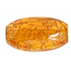 "Resin Beads 26x12mm Oval 8"" Strand Crack Amber"